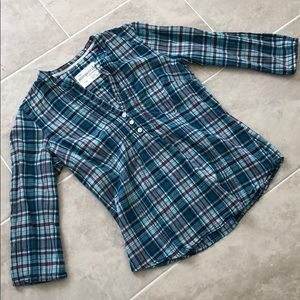 Aeropostale | Blue Plaid Blouse